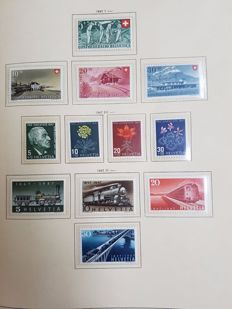 Switzerland 1945/1970 - Collection with official stamps and blocks