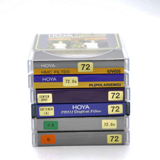 6 different Hoya filters 72 mm - new (1729)