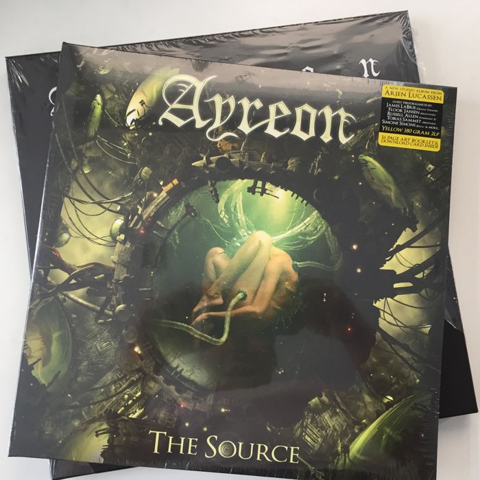 Ayreon, lot of 2 audiophile vinyl sets: Actual Fantasy 4LP set and The Source 2LP (yellow vinyl)