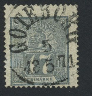 Sweden 1869 – lying lion, Michel 15b.