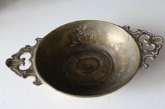 Antique bronze stoup with coat of arms - United Kingdom - 19th century