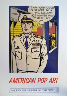 Roy Lichtenstein and Mel Ramos - 3 x American Pop art posters - 2015