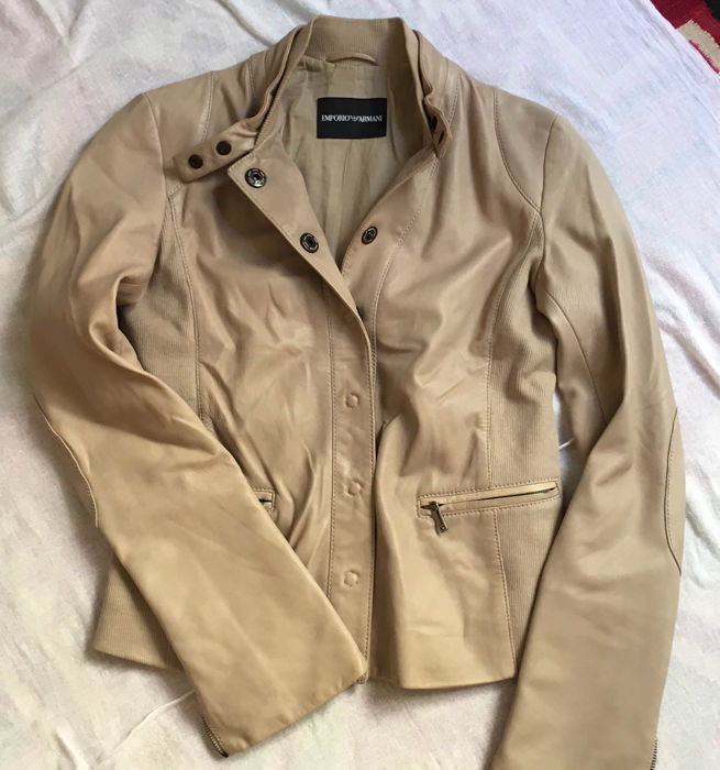 Emporio Armani – Nappa leather jacket