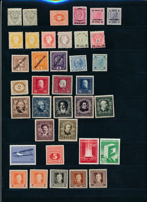 Austria  - Collection on stock pages
