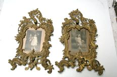 2 large baroque style French picture frames.