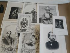 Lot of 8 ancient prints from 1826 to 1892