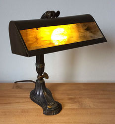 Beautiful authentic French 1930s notary lamp / banker's lamp / desk lamp