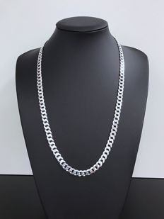 Silver (925k) curb link necklace – 65 cm – 43 g