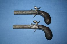 Couple of presentation percussion pistols late 18th early 19th century