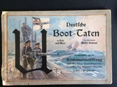 "DEUTSCHE-U-BOOT-TATEN, image folder with 10 images of ""Willy Stöver"" 1916"