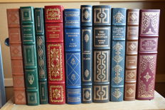 Lot with 43 leather-bound English books, published by Franklin Mint Library - 1979 / 1983