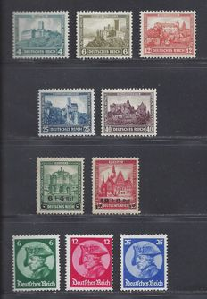 German Reich 1932/1933 - Various series - Michel 463/464, 474/478 and 479/481
