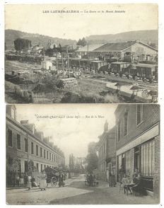 Party of postcards French villages and cities 90 x
