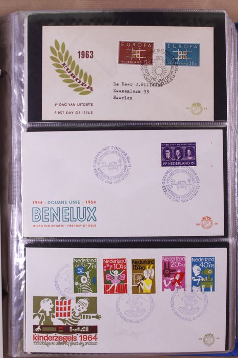 The Netherlands 1938/1982 – Batch of First Day Covers and covers, 10 albums
