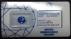 Sapphire weighing 2.50 ct (no reserve)