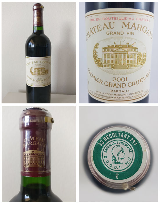 2001 Chateau Margaux, 1er Grand Cru Classe - 1 bottle (75cl)
