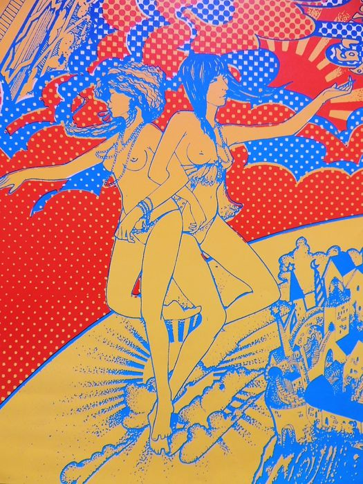 Extraordinary rare Hapshash Coloured Coat UK Headshop psychedelic Poster