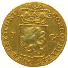 Utrecht - Half gold rider of 7 gulden, 1761 - gold