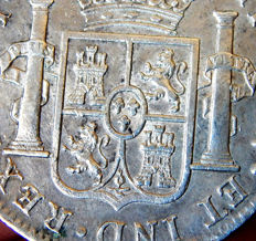 Spain - Carlos IV (1788-1808) - 8 reales 1807 Mint of Mexico, TH - Silver.