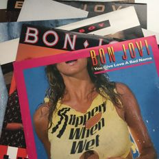 Bon Jovi, lot of 6 records including promo with exclusive remix