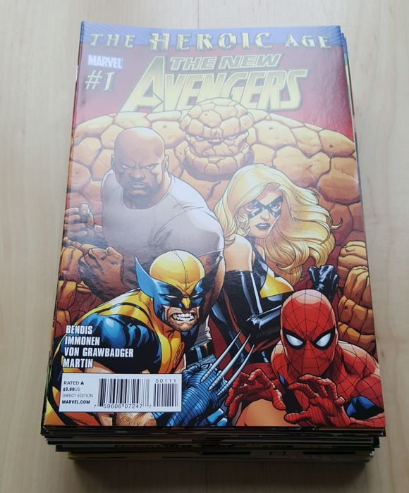 Marvel Comics – New Avengers Vol 2 – Complete Set – Issues #1-34 – X34 SC – (2010/2012)