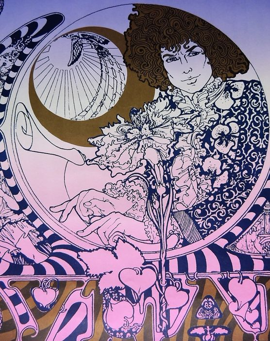Extraordinary rare BOB DYLAN psychedelic LOVE Poster