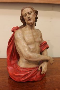 Ecce Homo - sculpture in polychrome wood - Southern Italy, early 19th-century