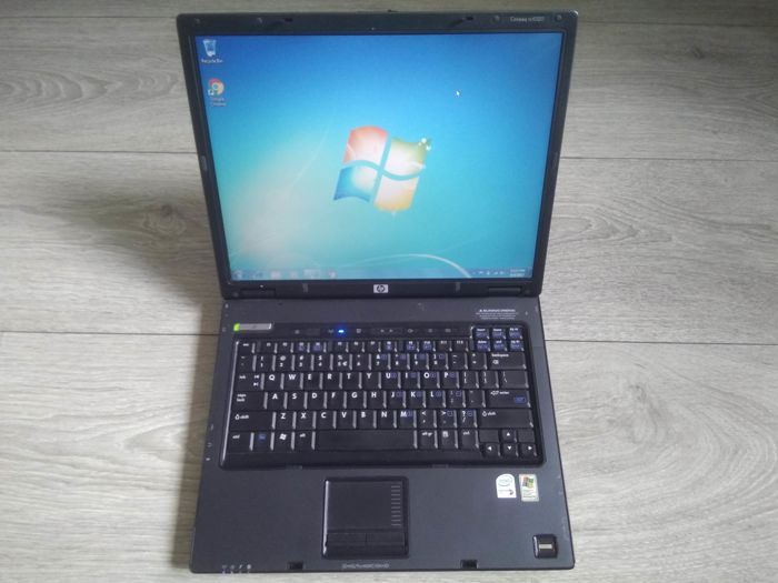 HP NC6320 business notebook - Intel Core2Duo 1.66Ghz CPU, 2GB RAM, 80GB HDD, Windows 7 - with charger