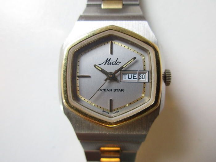 Mido 'Ocean star' - steel/gold women's wristwatch - automatic - 1970s