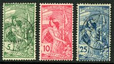 Switzerland 1900 - UPU in offset printing - Michel 71IDD, 72IDD, 73IDD