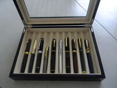 Gorgeous Chinese Lacquer Case Containing 10 Pens. 2nd Half of the XX Century.