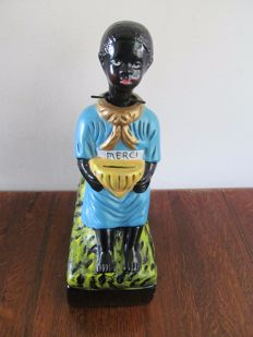 Mission piggy bank - nodding negro figure - Belgium circa 1950