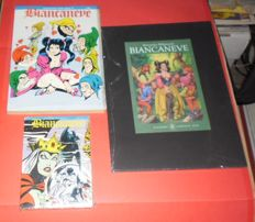 "Biffignandi, Alessandro - portfolio ""Biancaneve"", with 8x lithographs + 2x still sealed comic albums from 1989"