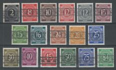 Germany allied occupation 1948 - Freimarken American / British zone with band overprint - Michel 52I/68I