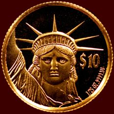 Niue - 10$ 1997 ' Statue of Liberty' - gold