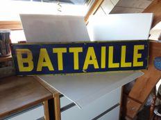 Old enamel sign battaille - 1949