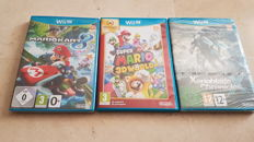 Lot van 3 Wii u Games. 2 of them sealed. Like Mario Kart 8 and more