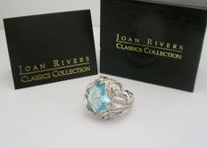 JOAN RIVERS - Aquamarine Crystal Cocktail Ring