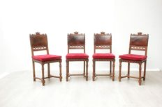 Set of four Henri deux chairs