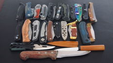 24 hunting knives - sharp - working well - this century