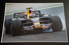 Nice framed image, personally signed by David Coulthard