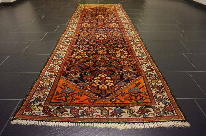 Old high-quality Persian carpet - Malayer - Hamadan - runner - made in Iran - 105 x 306 cm