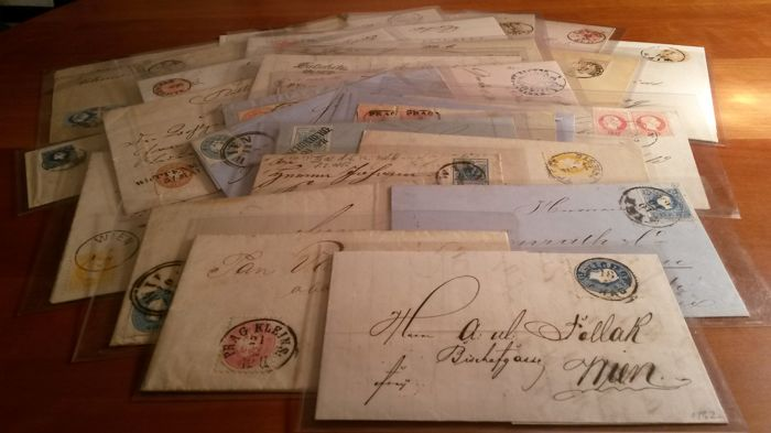 Austria – Old letter from pre-adhesive mail and first editions