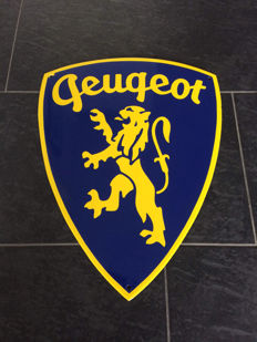 Peugeot enamel advertising sign garage dealer