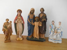 4 religious statues of various materials - 1920 to 1970