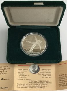 Canada - 20 Dollars 1987 'Calgary 1988 Olympic Winter Games – Figur Skating' – 1 oz silver