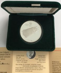 Canada - – 20 Dollars 1987 'Calgary 1988 Olympic Winter Games – Bobsleigh' – 1oz silver