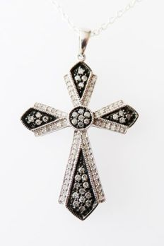 925 Silver Pendant with Diamonds 0.81 ct- Dimensions (chain): approx. 45 cm (length)