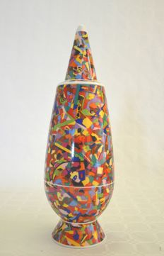 Alighiero Boetti and Alessandro Mendini for Alessi - Vase ( restored... look carefully at the pictures)