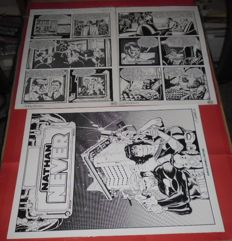 "Vercelli e Castellini - 2x original plates ""Nathan Never"" special album, issue no. 17"